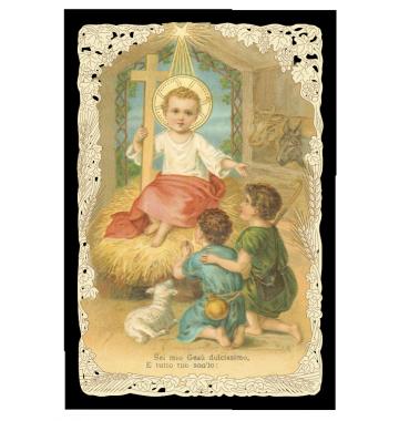 Gesù Bambino e i pastori
