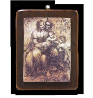 "Leonardo da Vinci ""Madonna, Sant'Anna, Gesù e San Giovannino"""